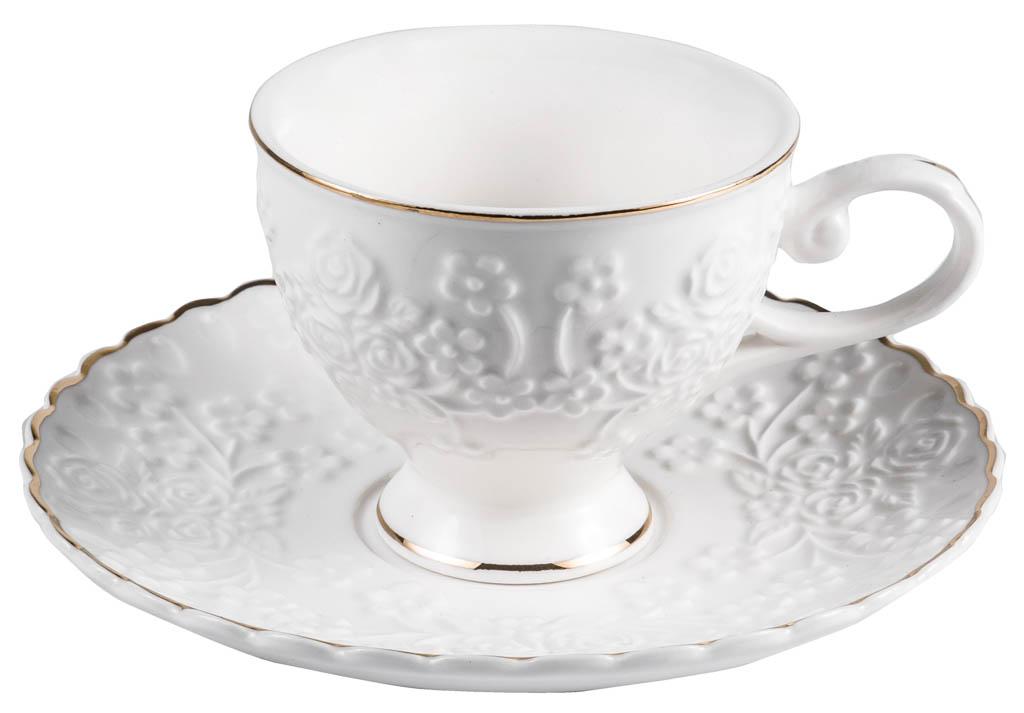 Фото Набор чашек кофейных с блюдцем Balsford Грация Галена 100 мл 6 шт