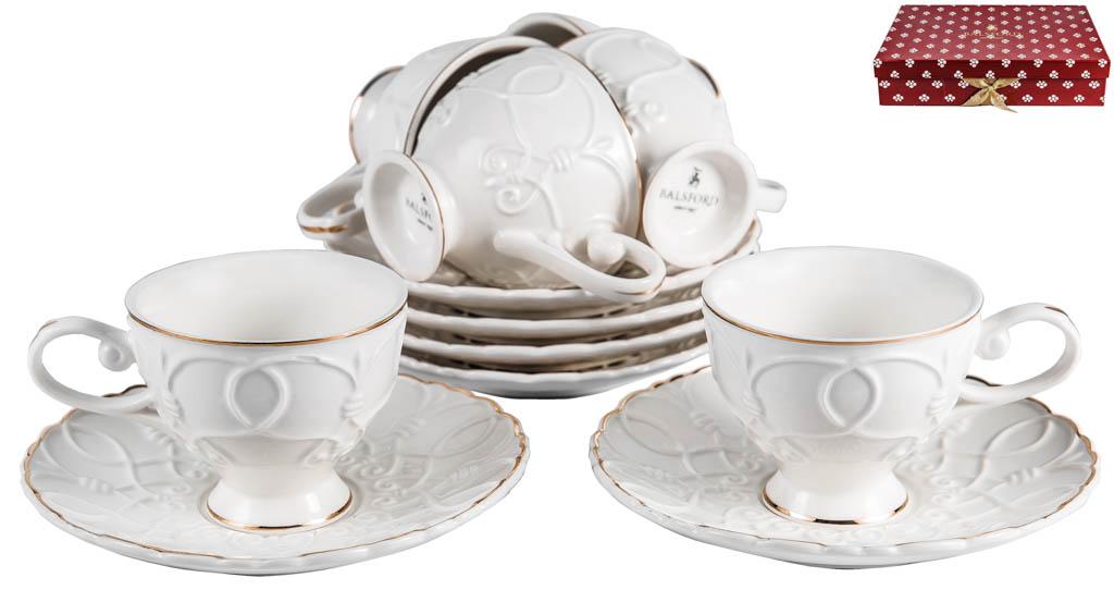 Фото Набор чашек кофейных с блюдцем Balsford Грация Клио 100 мл 6 шт
