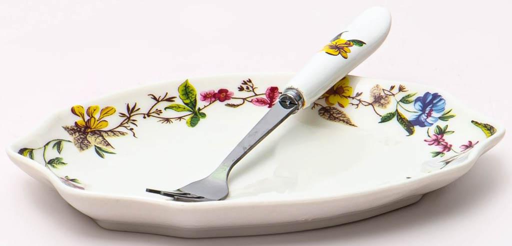 Фото Блюдо для лимона с вилочкой Balsford Летнее Утро Форма Латона 152 мм