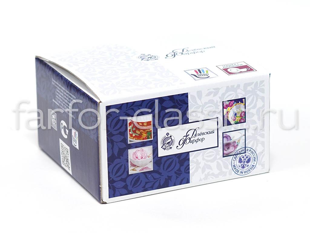 Фото Подарочная упаковка Дулево для чайной пары, картон, 15x8,5 см