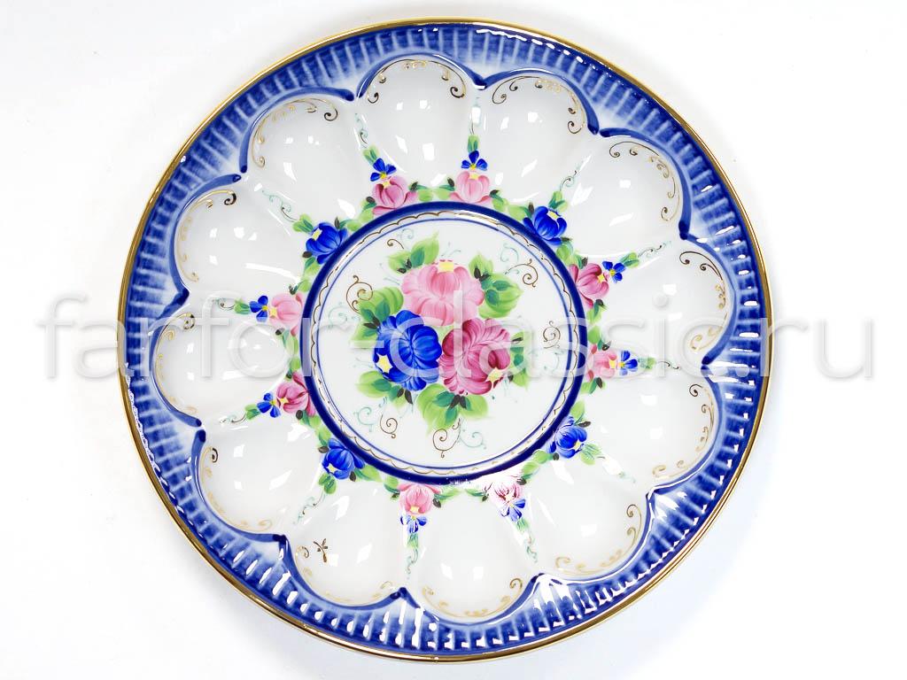 Фото Блюдо Пасхальное Гжель 240 мм Художественная роспись