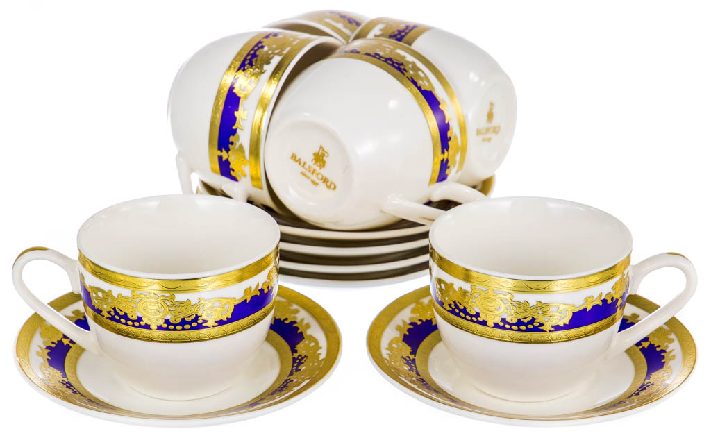 Фото Набор чашек кофейных с блюдцем Balsford Султан Форма Эстелла 120 мл 6 шт