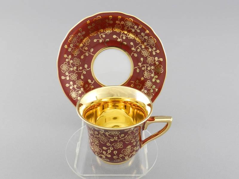 Фото Чашка кофейная с блюдцем 100 мл, Форма Виндзор Рубиновый цветок