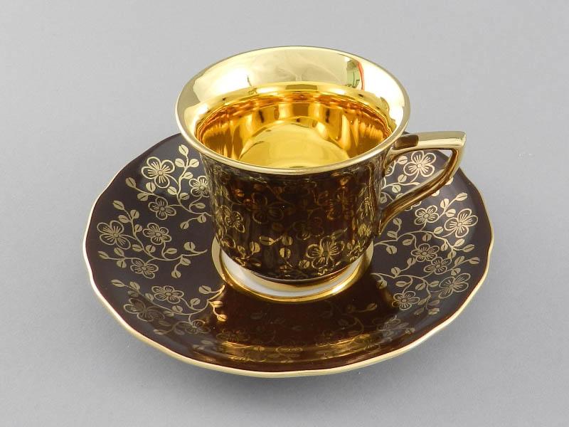 Фото Чашка кофейная с блюдцем 50 мл, Форма Виндзор Шоколадный цветок