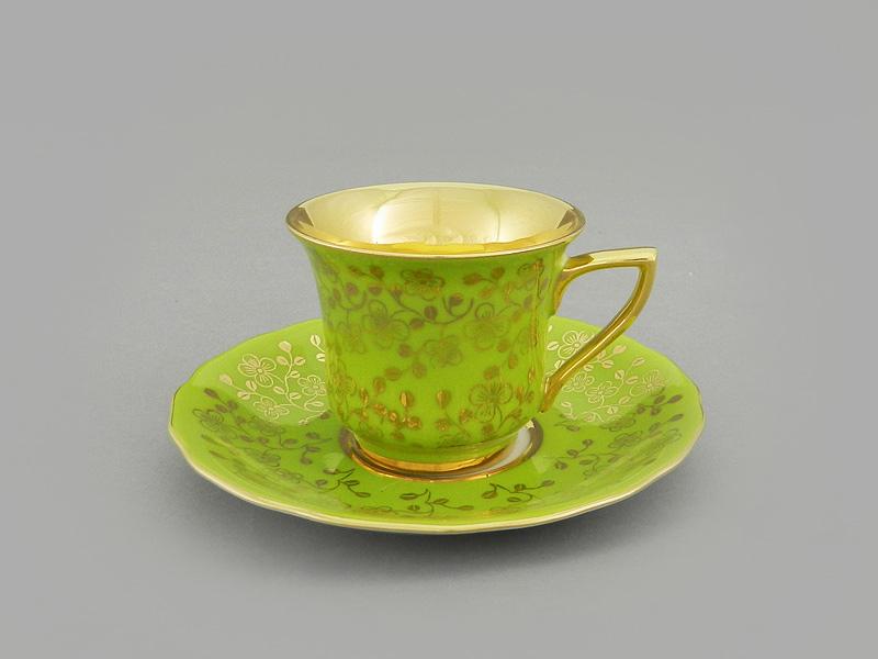 Фото Чашка кофейная с блюдцем 50 мл, Форма Виндзор Фисташковый цветок