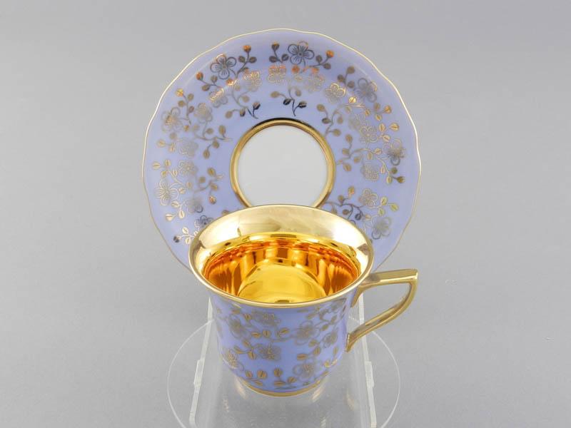 Фото Чашка кофейная с блюдцем 100 мл, Форма Виндзор Лазурный цветок