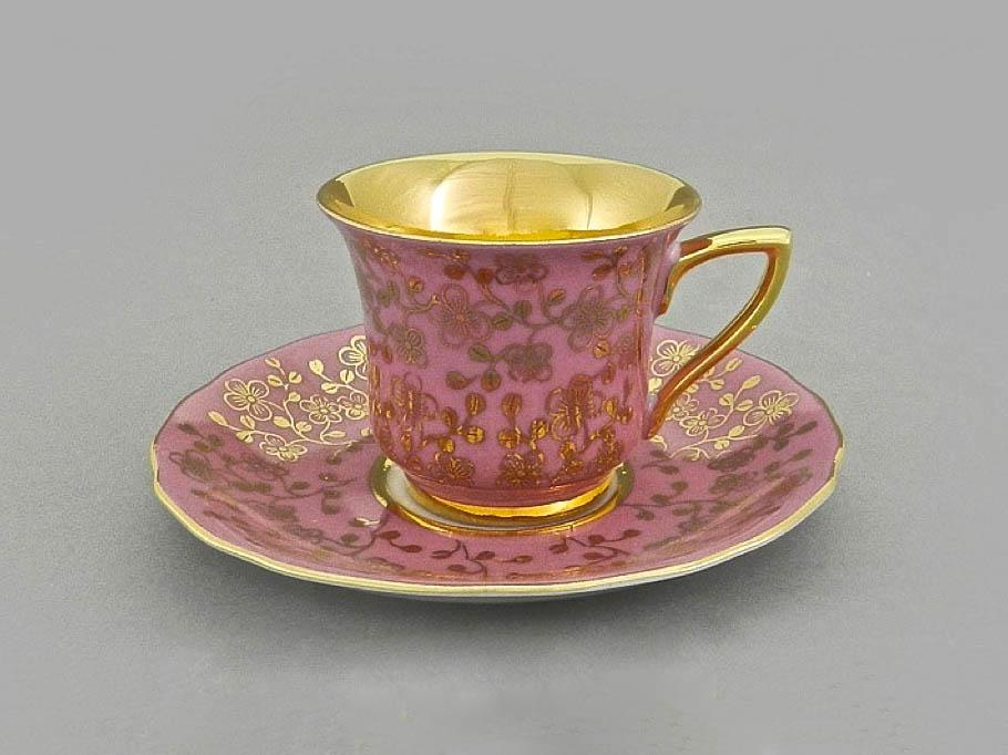 Фото Чашка кофейная с блюдцем 50 мл, Форма Виндзор Японский цветок