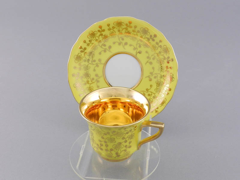 Фото Чашка кофейная с блюдцем 50 мл, Форма Виндзор Янтарный цветок