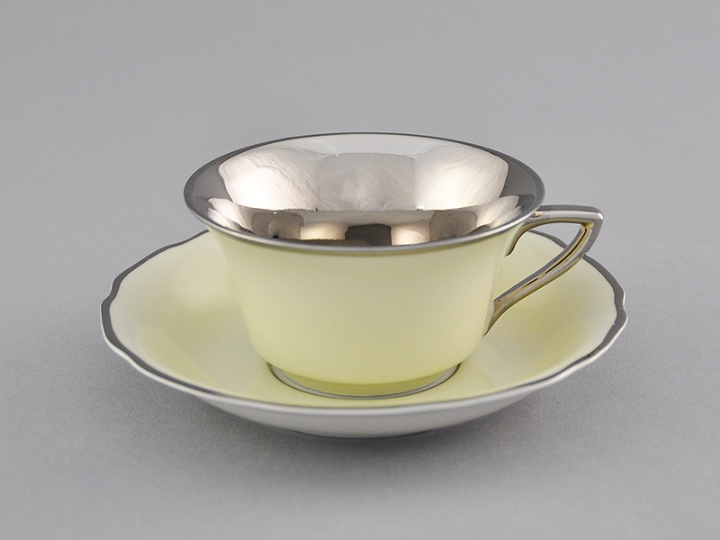Фото Чашка кофейная с блюдцем 100 мл, Форма Виндзор Мятный платина