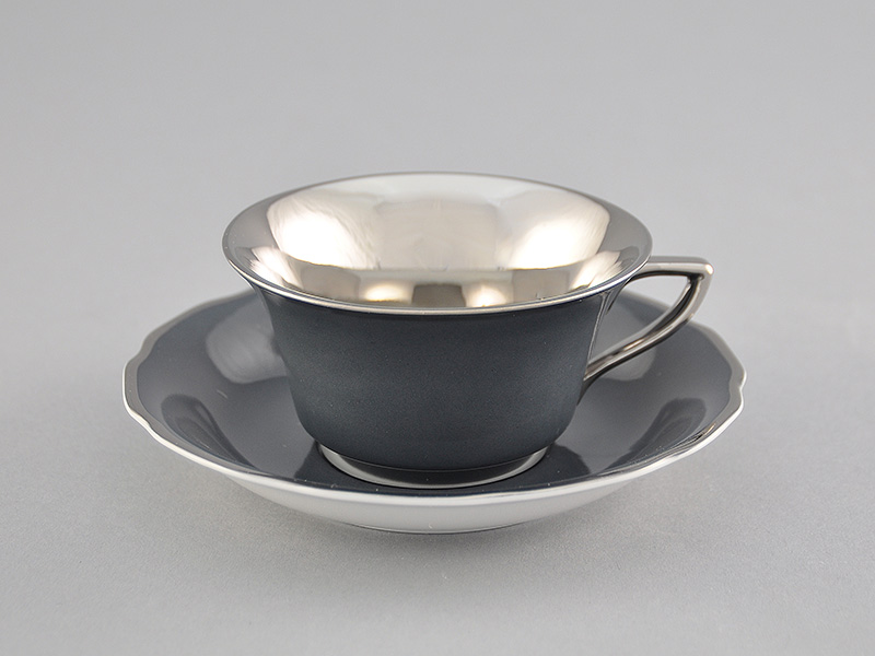 Фото Чашка кофейная с блюдцем 100 мл, Форма Виндзор Серый платина