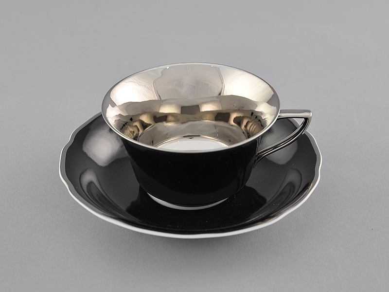 Фото Чашка кофейная с блюдцем 100 мл, Форма Виндзор Агатовый платина