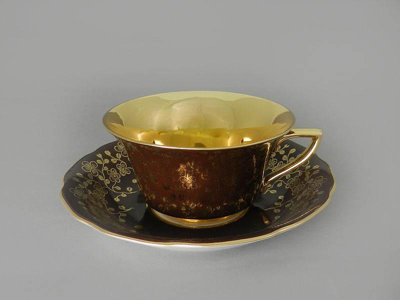 Фото Чашка кофейная с блюдцем 150 мл, Форма Виндзор Шоколадный цветок