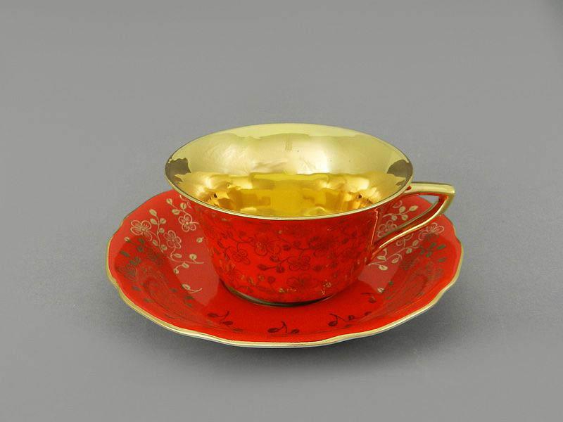Фото Чашка кофейная с блюдцем 100 мл, Форма Виндзор Коралловый цветок