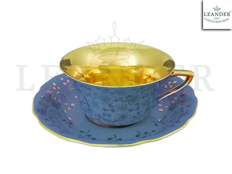 Фото Чашка кофейная с блюдцем 150 мл, Форма Виндзор Лазурный цветок