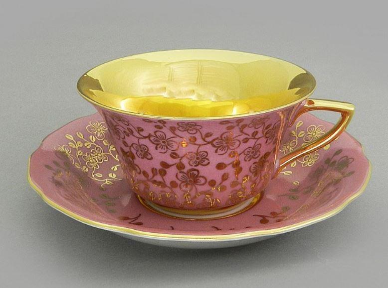 Фото Чашка кофейная с блюдцем 100 мл, Форма Виндзор Японский цветок