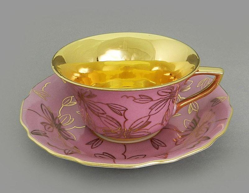Фото Чашка кофейная с блюдцем 100 мл, Форма Виндзор Японская магнолия