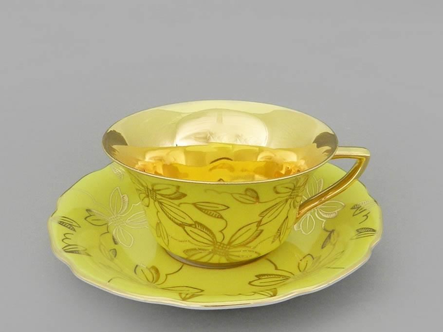 Фото Чашка кофейная с блюдцем 100 мл, Форма Виндзор Янтарная магнолия