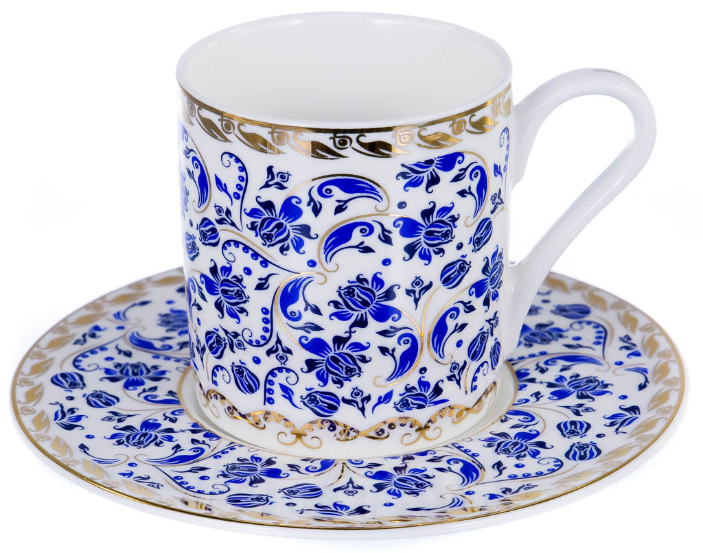 Фото Набор чашек кофейных с блюдцем Balsford Цета Форма Мармарис 100 мл 6 шт