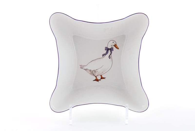 Фото Салатник квадратный 17 см Форма Мэри-Энн Чешские гуси
