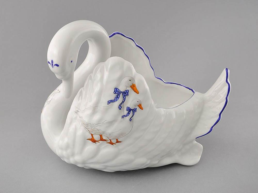 Фото Конфетница Лебедь Форма Мэри-Энн Чешские гуси
