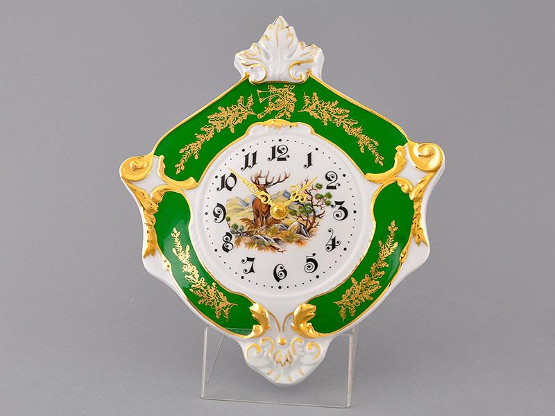 Фото Часы настенные 27 см Форма Мэри-Энн Охотничий изумрудный