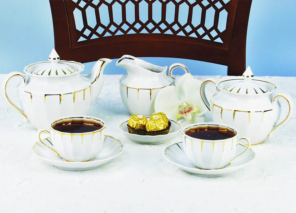 Фото Сервиз чайный Солнечный дождь 15 предметов Ампир