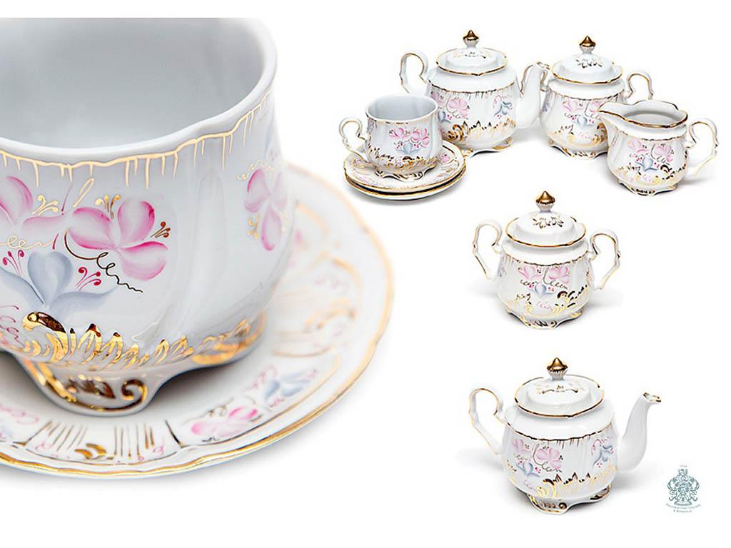 Фото Сервиз чайный Кузнецовский Весенний Версаль 15 предметов