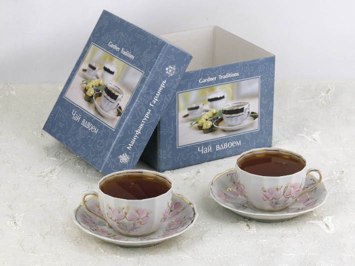 Фото Набор чайных пар 2 шт Весенний Версаль 200 мл Ампир