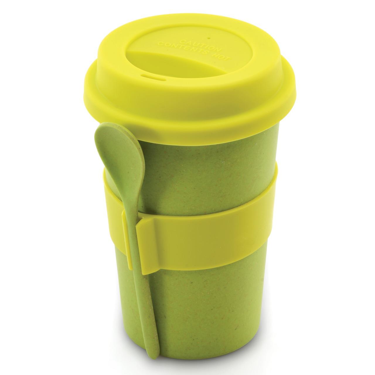 Фото Кружка для кофе с ложкой 0,5 л (салатовая) BergHOFF CooknCo
