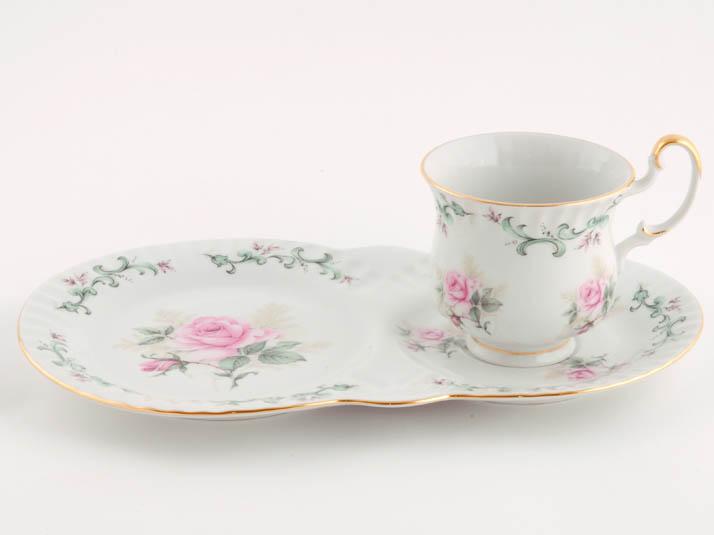 Фото Чайная пара 250 мл, поднос-тарелка, Форма Моника Принцесса