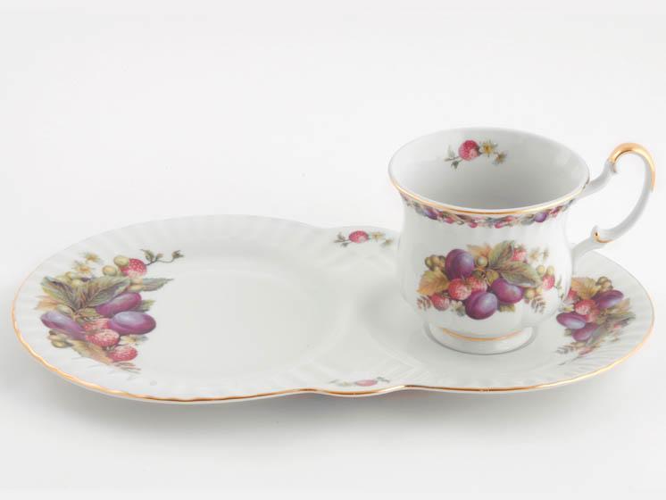Фото Чайная пара 250 мл, поднос-тарелка, Форма Моника Тоскана