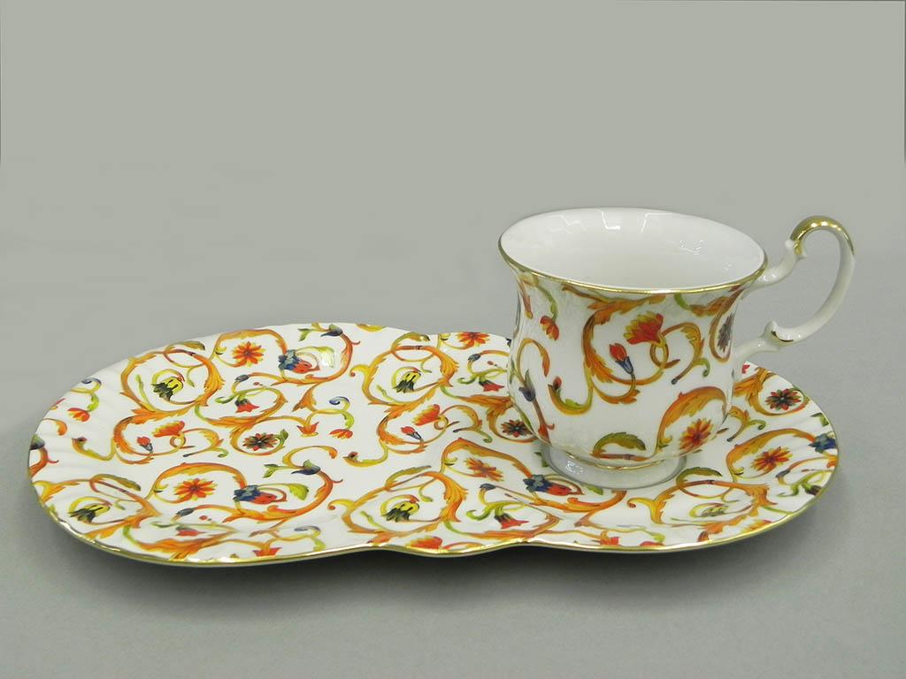 Фото Чайная пара 250 мл, поднос-тарелка, Форма Моника Модерн