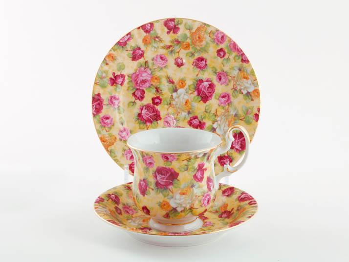 Фото Комплект чайный 250 мл, 3 предмета,  Форма Моника Янтарь