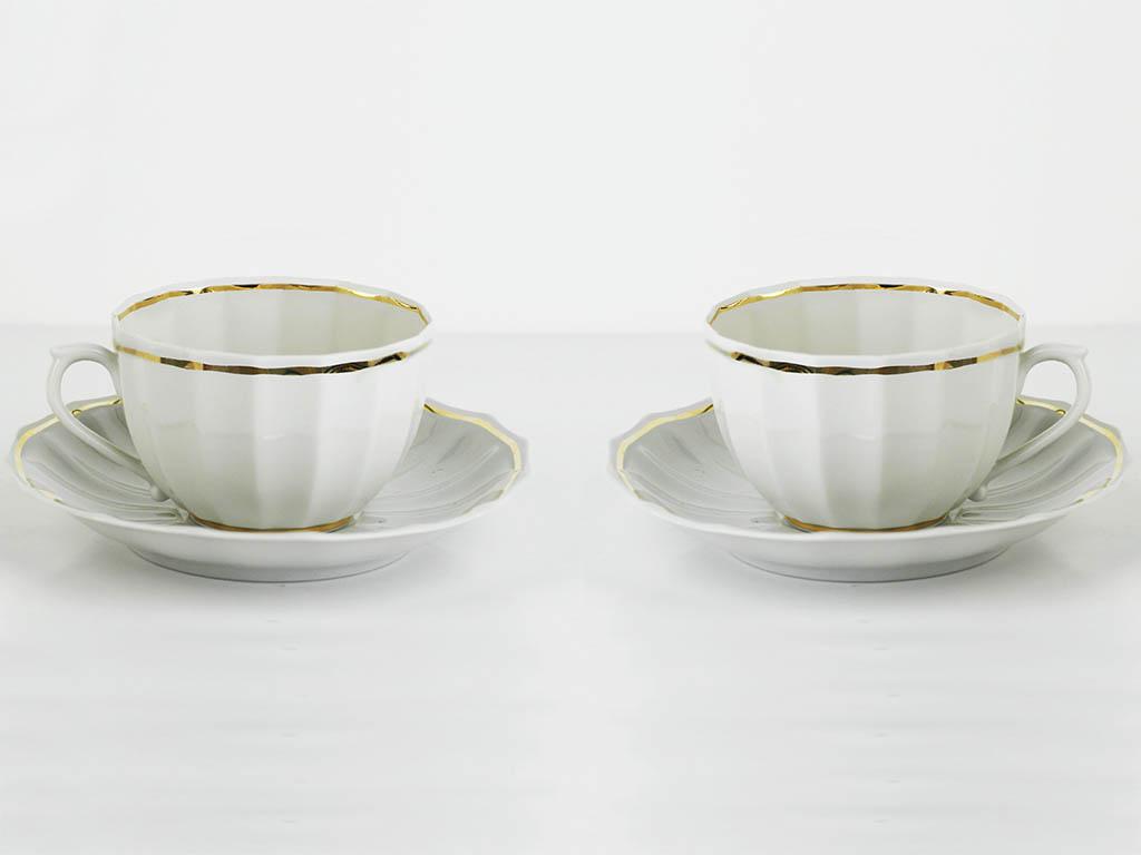 Фото Набор чайных пар 2 шт Золотая лента 200 мл Ампир