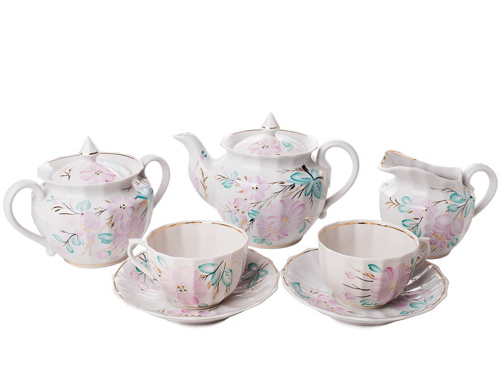Фото Сервиз чайный Невеста 21 предмет Ампир