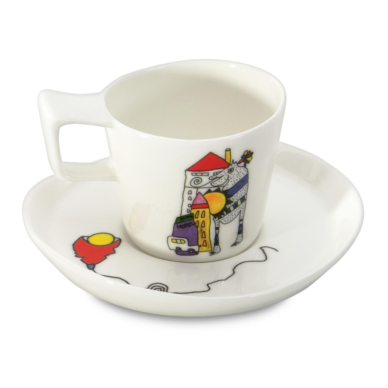 Фото Набор чашек для эспрессо с блюдцем 80 мл BergHOFF Eclipse ornament 2 шт