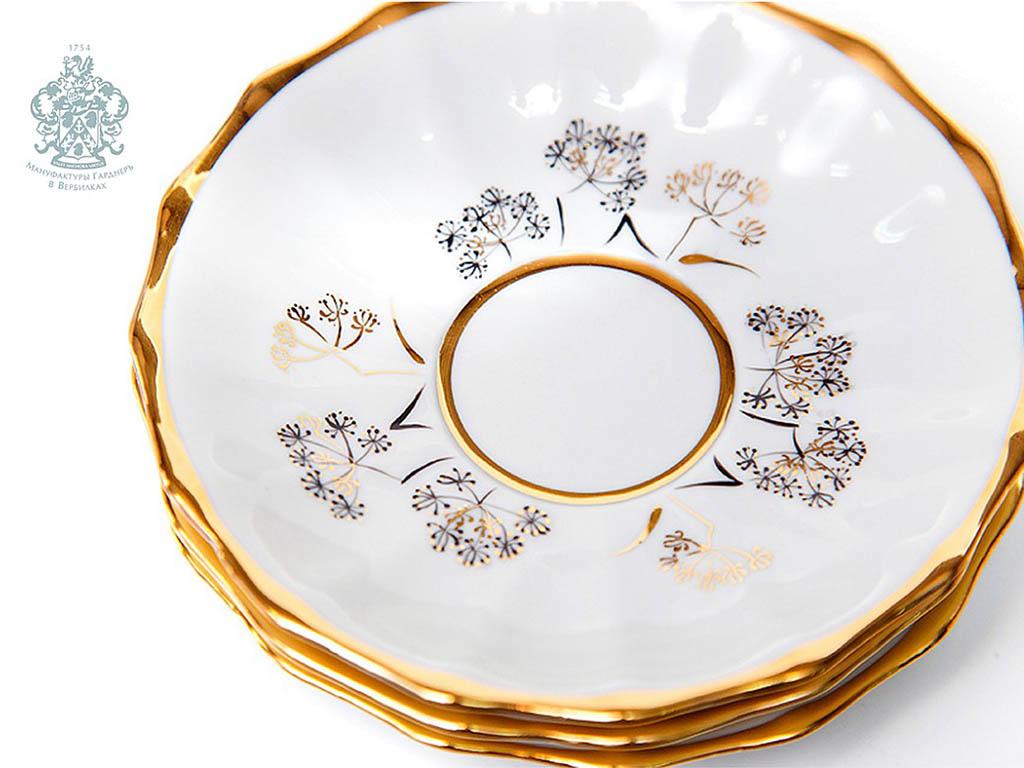 Фото Сервиз чайный Золотая ангелика 15 предметов Ампир