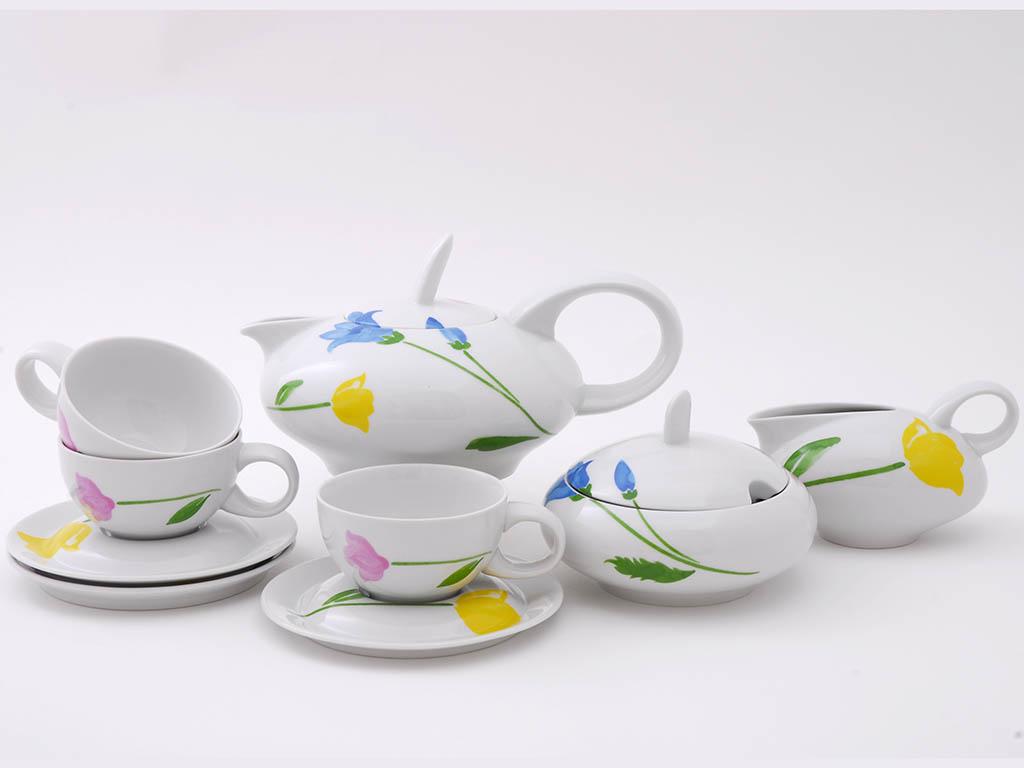 Фото Сервиз чайный 15 предметов на 6 персон, Форма Тереза Тюльпан