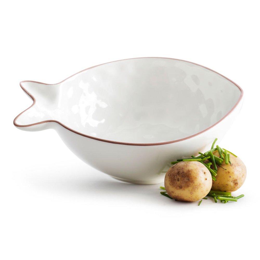 Фото Блюдо сервировочное Рыба малое белое SagaForm Kitchen 18 см