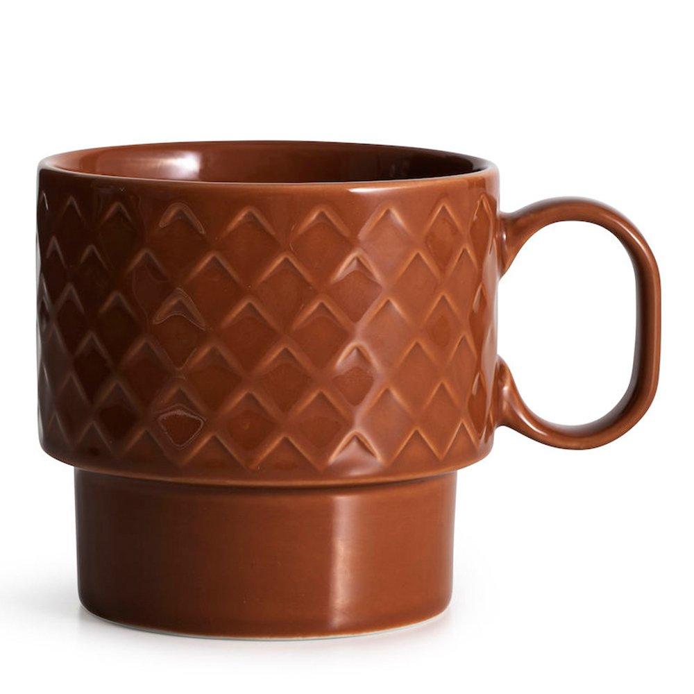 Фото Кружка чайная SagaForm Coffee and More 400 мл коричневый