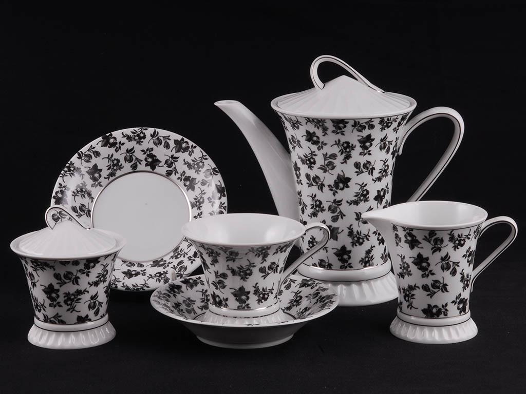 Фото Сервиз чайный 15 предметов на 6 персон, Форма Светлана Вечерний сад