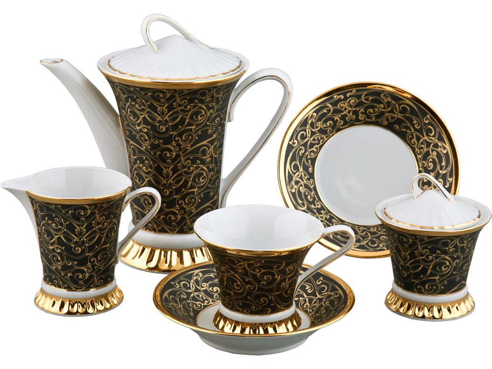 Фото Сервиз чайный 15 предметов на 6 персон, Форма Светлана Золотой узор