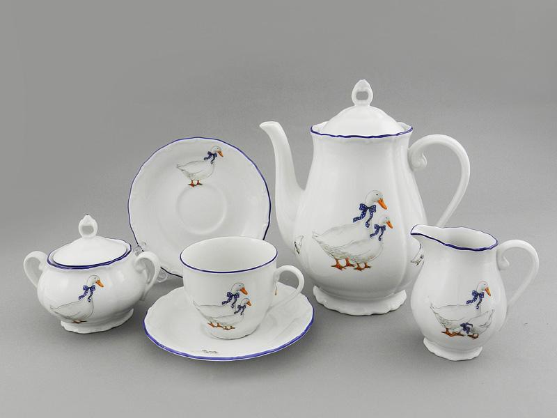 Фото Сервиз кофейный 15 предметов на 6 персон Форма Верона Чешские гуси