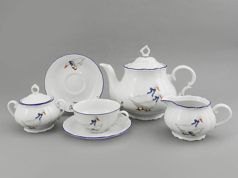 Фото Сервиз чайный 15 предметов на 6 персон Форма Верона Чешские гуси