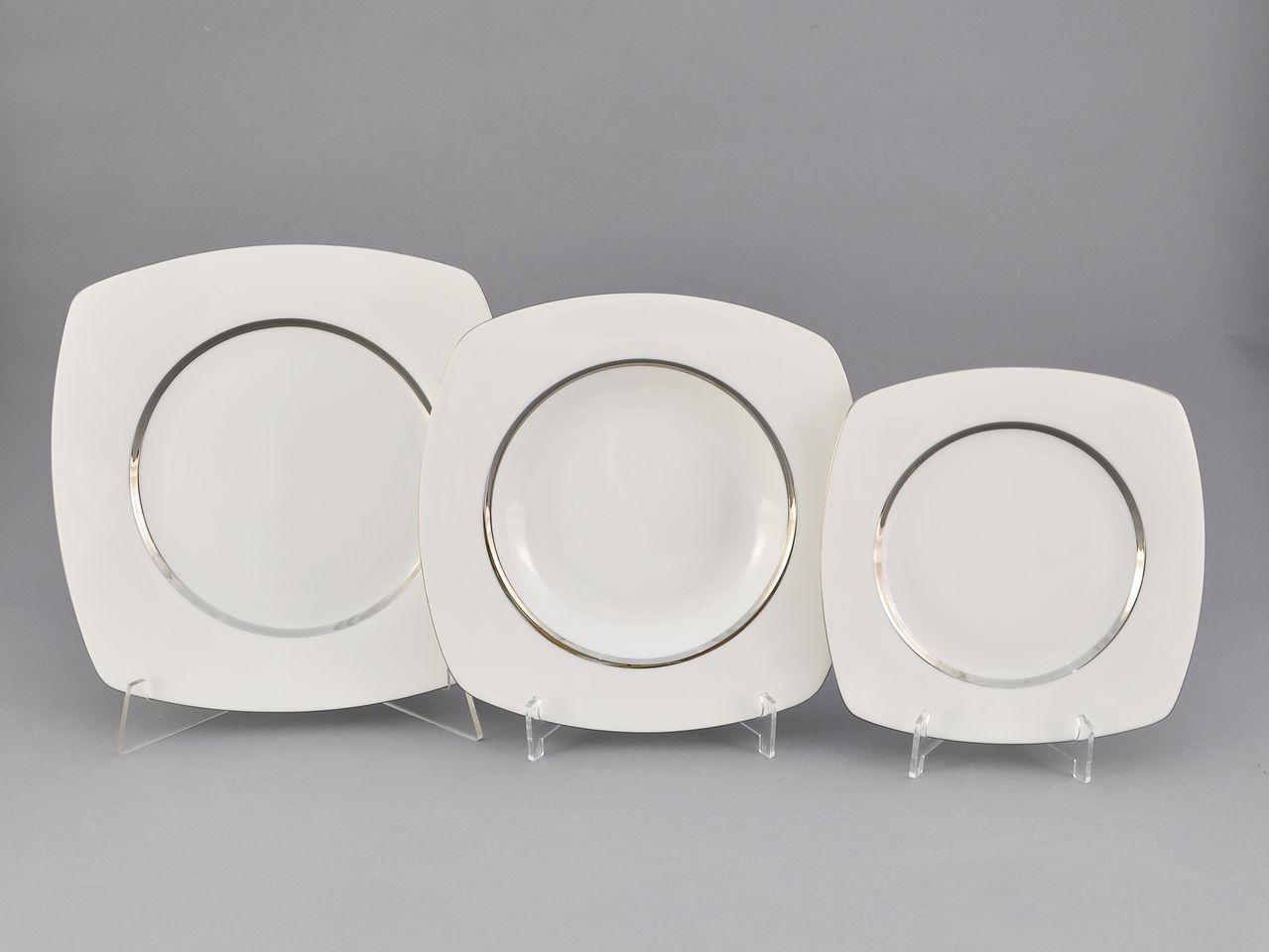 Фото Набор тарелок 18 предметов на 6 персон Форма Бьянка Айсберг