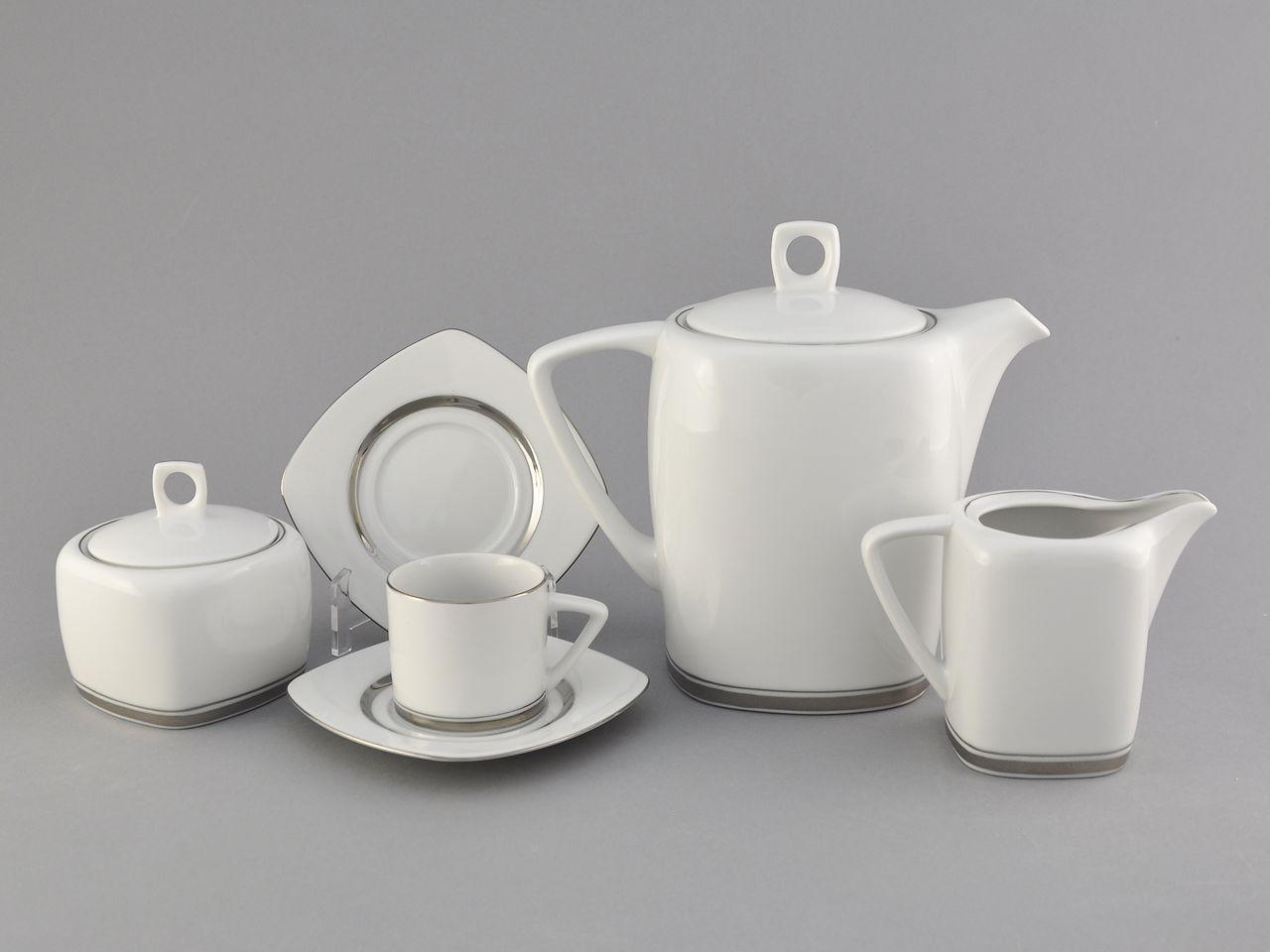Фото Сервиз кофейный 15 предметов на 6 персон, чашки 100 мл, Форма Бьянка Айсберг