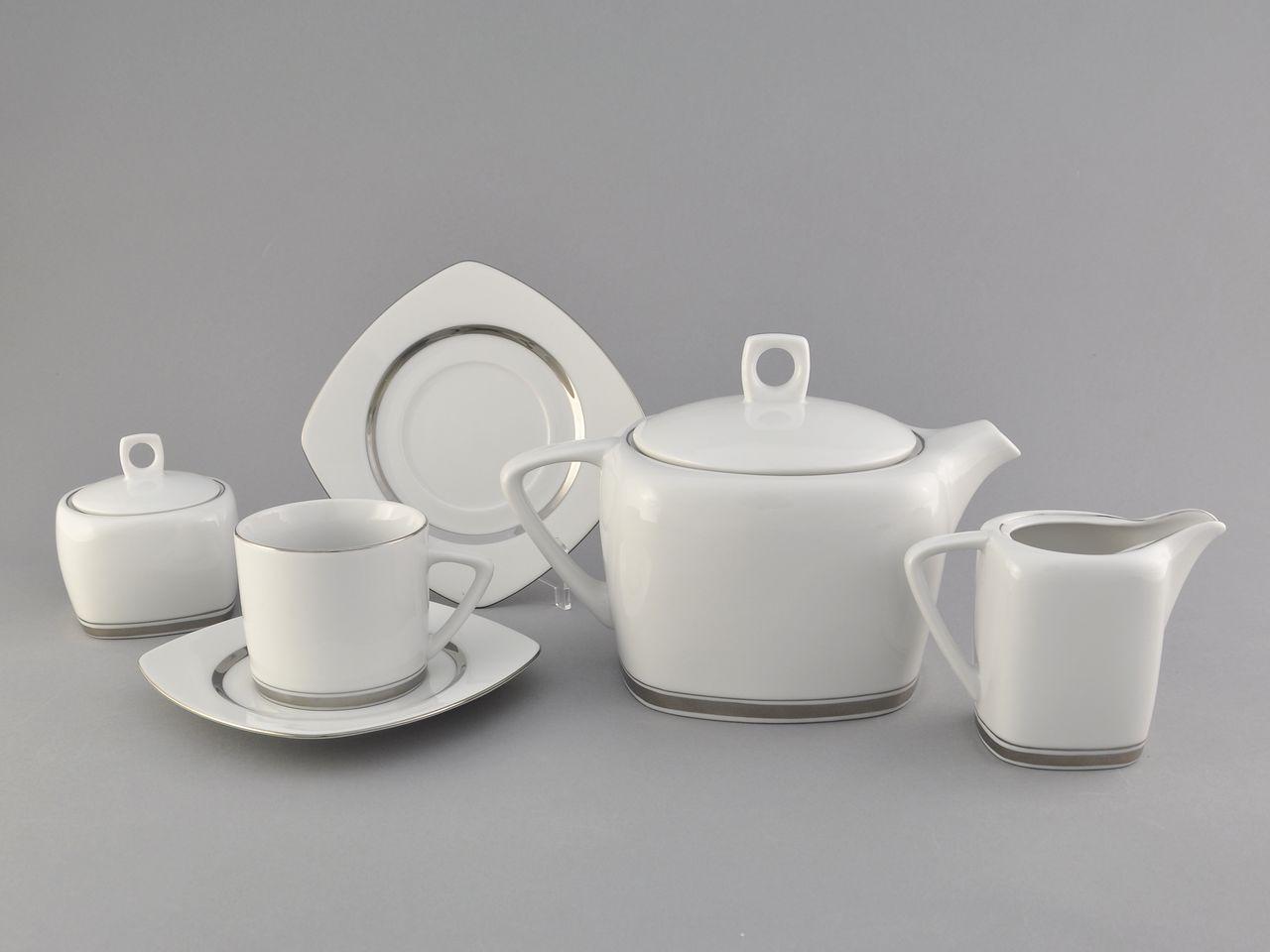 Фото Сервиз чайный 15 предметов на 6 персон Форма Бьянка Айсберг