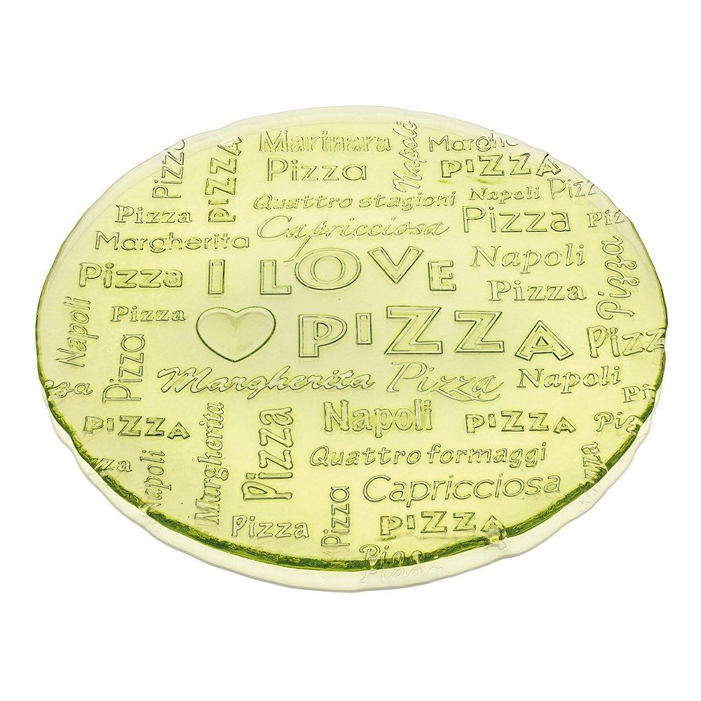 Фото Блюдо IVV I love pizza зеленое 33 см