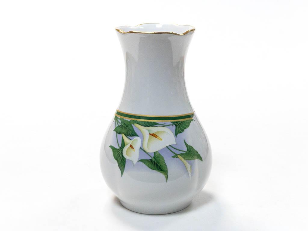 Фото Вазочка для цветов Гжель 15 см Аппетитная Каллы