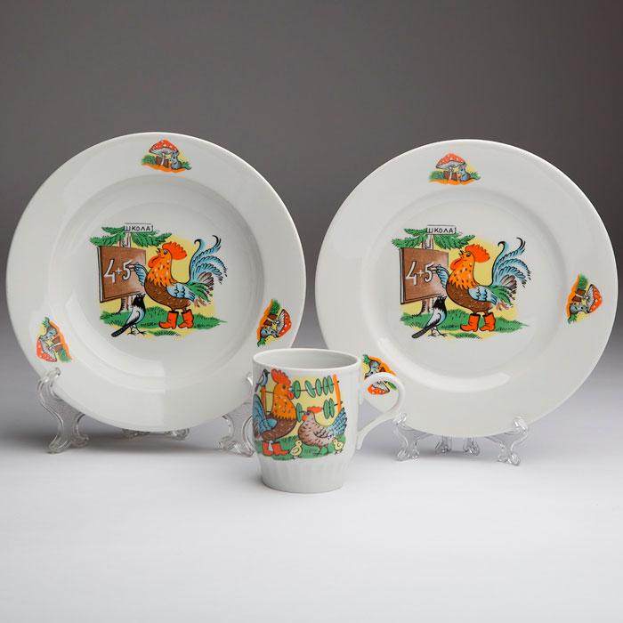 Фото Набор детской посуды Школа, 3 предмета